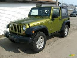 jeep wrangler hellcat 2007 rescue green metallic jeep wrangler rubicon 4x4 26881654