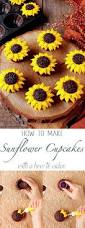 sunflower cupcakes with a how to video sunflower cupcakes