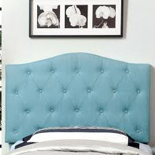 buy marina upholstered headboard size full queen color blue
