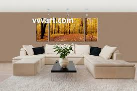 forest wall art shenra com 3 piece canvas scenery autumn yellow trees artwork