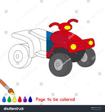 quad bike colored coloring book stock vector 536888338
