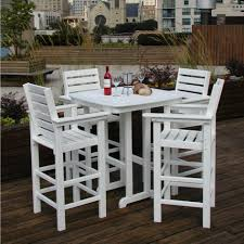 furniture ideas high patio set with swivel patio chairs and