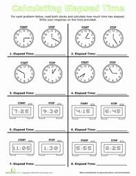 calculate elapsed time worksheets second grade and 2nd grades