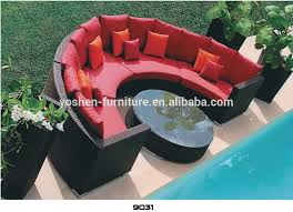 Outdoor Sofa Sets by Semi Circle Outdoor Garden Sectional Sofa Half Round Rattan Sofa