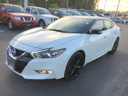 white nissan 2016 2017 nissan maxima sr midnight edition pearl white nissan of