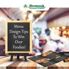 pin by shamrock printing u0026 graphics on menu printing company