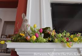 Easter Decorations Mantel by Ideas For Decorating For Spring And Easter