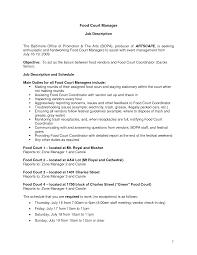 Crew Member Job Description Resume Fast Food Job Description For Resume Download Fast Food Job