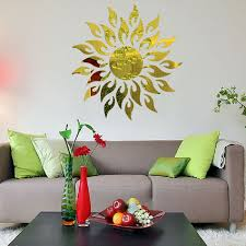 Sunflower Themed Bedroom Aliexpress Com Buy Fashion Acrylic 3d Wall Ceiling Sunflower