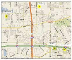 toledo ohio map toledo area softball tournament fields