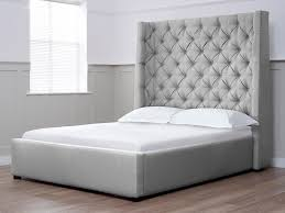 wonderful grey headboard double bed double bed frame crushed