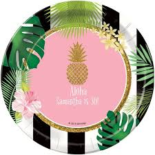 personalized dinner plate party like a pineapple personalized dinner plates stumps