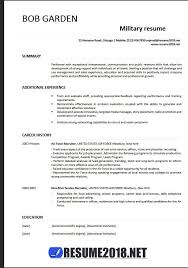 Military Resume Examples For Civilian Military Resume Example Veteran Resume Templatebillybullock Free