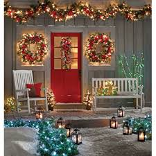 windows pre litand wreath artificial indoor wreaths grapevine