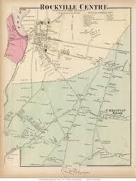 Long Island New York Map by Rockville Centre And Christian Hook Villages Hempstead New York