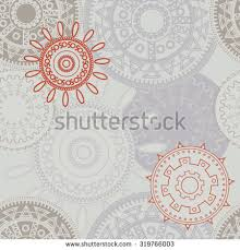 grey pattern ethnic style colorful ornaments stock vector