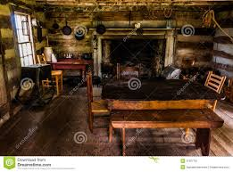 colonial log cabin interior stock image interior of a historic