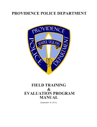 providence police department field training