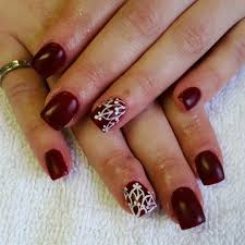 brown nails with dotted design nail art brown nails design biz