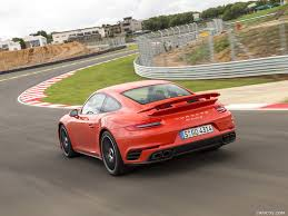 orange porsche 2016 porsche 911 turbo s coupe color lava orange rear hd