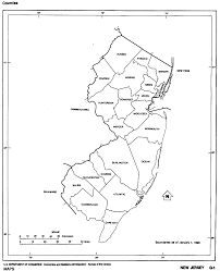 United States Map Black And White by New Jersey Outline Maps And Map Links