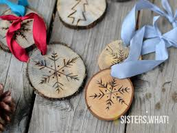 wood burned wood sliced snowflake ornaments 26 other
