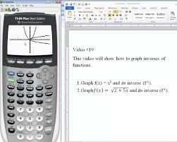 ti 84 tutorial graphing functions and their inverses youtube