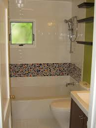 stylish glass panel for bathroom shower ideas with brown tile wall