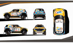 rally mini truck car design sketches and drawings cover project of dakar 2014