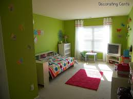 delightful lime green wall color bedroom design combine with white