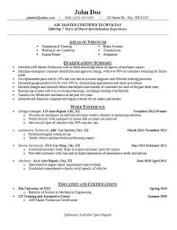 Mechanical Resume Examples by Interesting Automotive Mechanic Resume Example With Objective For
