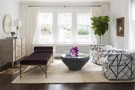 Purple Upholstered Bench Upholstered Bench Transitional Living Room Sarah Richardson