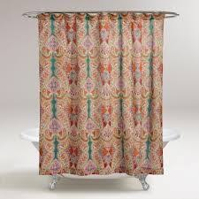 Target Paisley Shower Curtain - target home woven dot stripe fabric shower curtain turquoise red