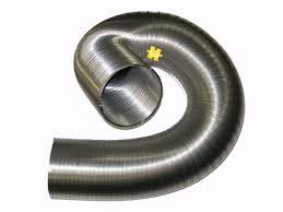 gaine pour hotte de cuisine aluminium de 125 mm évacuation de hotte