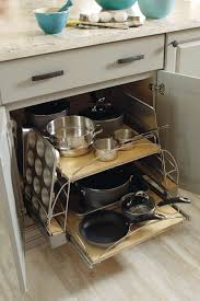 Pullouts For Kitchen Cabinets Base Pots And Pans Pullout Schrock Cabinetry