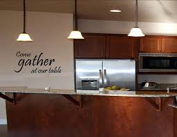 Kitchen Cabinet Decals Amazon Com Come Gather At Our Table Vinyl Wall Art Kithen Quotes