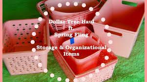dollar tree haul ft fling storage organizational items