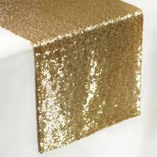 gold star table runner sequin table runners 108 x 12 gold efavormart