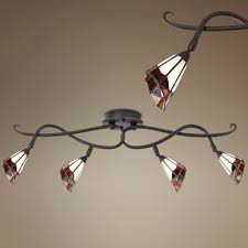 ceiling track lights for kitchen pro track tiffany glass scroll ceiling track light track