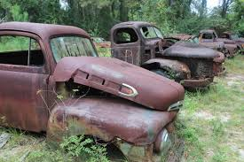 Old Ford Truck Graveyard - harvey trucks take visitors for a ride into the past wfsu