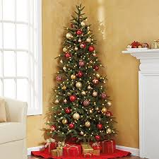 pre lit fraser fir corner artificial tree celestial