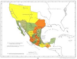 Central Mexico Map by Mexican Military Personnel
