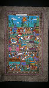 mexican amate bark painting latin native ethnic folk art wall