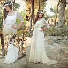 Cheap Boho Clothes Online New Arrivals 2015 Summer Bohemian Lace Wedding Dresses With