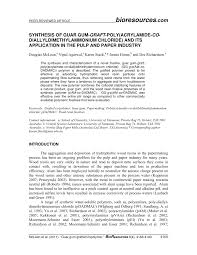 synthesis of guar gum graft poly acrylamide
