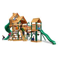 gorilla playsets treasure trove wood swing set walmart com