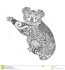 zentangle stylized koala stock vector image 66737390