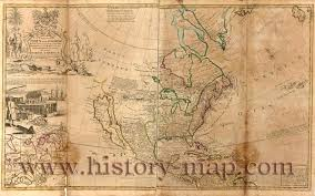 Map Of Nirth America by North America In 1700 U0027s