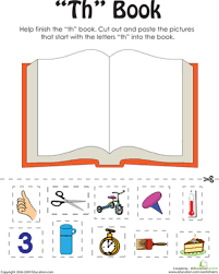 first grade phonics worksheets u0027th u0027 words a word family book