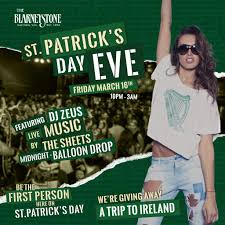 st patricks eve party ireland trip giveaway the blarney stone